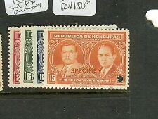 HONDURAS (P1008B) 1933 SET SPECIMEN  EX ARCHIVES MNH