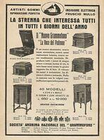 Y1004 Il nuovo grammofono La Voce del Padrone - Pubblicità 1928 - Advertising