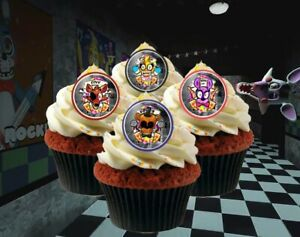 FNAF Five Nights at Freddy's Cupcake Toppers Rings Party Favors - 24 pcs