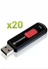 x20 (Pcs) TRANSCEND JETFLASH  4GB USB 2.0 USB FLASH DRIVE.