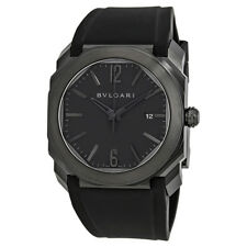 Bvlgari Octo Ultranero Black Lacquered Dial Automatic Mens Watch 102737