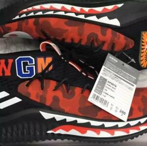 A BATHING APE BAPE x adidas DAME4 Size US 10 Red Camouflage Sneaker NEW JAPAN