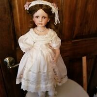 """Vintage Silk Doll Dress and hairpiece for a 22""""-23"""" Doll with matching Baby Doll"""