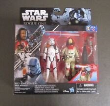 """Imperial Stormtrooper vs Baze Malbus 2016 STAR WARS Rogue One R1 3.75"""" MOC"""
