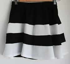 NWOT PINK OWL Black and White Striped Short Skirt Juniors Small Hautelook