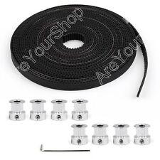 8x GT2 Poulie 16Teeth Bore 5mm + 5m GT2 Timing Belt Pour 3D Imprimante RepRap
