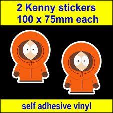 2 South Park Kenny Funny stickers vw van kids bedroom laptop toolbox car Decals