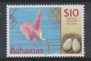 Bahamas - 2001, $10 Roseate Spoonbill Bird stamp - MNH - SG 1264