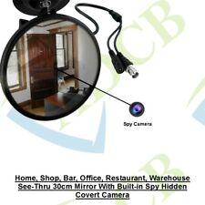 30CM MIRROR WITH BUILT-IN HIDDEN, SPY, COVERT SHOP, WAREHOUSE  SONY CCTV CAMERA