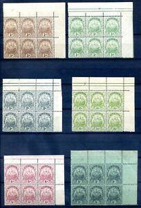 Bermuda 1922 selection of MH blocks of 6