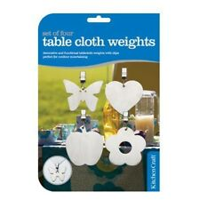 Set Of 4 Assorted Pattern Stainless Steel Table Cloth Weights - Kitchen Craft
