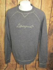 Life Is Good Mens Blue Lambswool Blend Crew Neck Casual Sweater Large