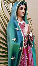 Virgen De Guadalupe, Our Lady Of Guadalupe STATUE 21 INCH Handcrafted VIRGENCITA