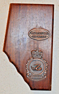 Canadian Forces Base Suffield WOs' & Sergeants' Mess wall plaque Sgts' CFB