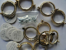 Screw Mount Hamilton Gold Plated 30 mm Half Dollar 1017 (pkg 12)