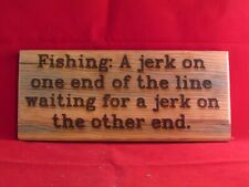 Definition of Fishing Wooden Plaque