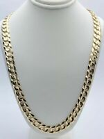"10k Yellow Gold Solid Cuban Curb Link Chain Necklace 20"" 9 mm  56-60 grams"