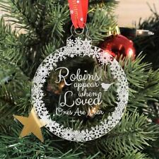 Christmas Bauble Engraved Tree Decoration Gift  - Loved Ones Memorial Bauble
