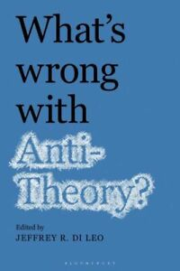 What's Wrong with Antitheory?