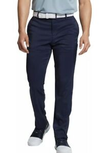 Nike Mens Flex Slim Fit 5 Pocket Golf Pants Dri-fit 36x32 Bv0278 Navy 85.00