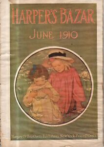 1910 Harpers Bazar June - Jessie Willcox Smith - Woman suffrage - Extremely Rare
