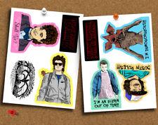Set of 8 Stranger Things Stickers, Eleven, Dustin, Steve Harrington, Demogorgon