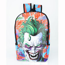 The Joker Backpack Knapsack Travel PU Leather Student Bags DC Cosplay Gifts New