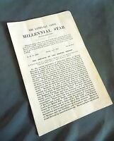Millenial Star June 6, 1912  LDS Mormon News Pamphlet Booklet