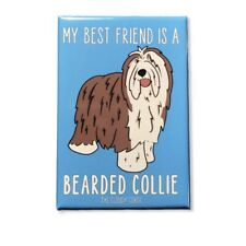 Bearded Collie Dog Magnet Best Friend Cartoon Pet Art Gifts and Home Decor