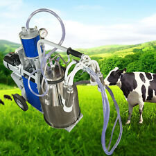 25L Electric Milking Machine  For farm Cows Bucket 110/220V Stainless Steel Sale