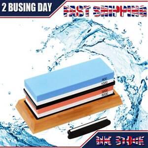 400/1000+3000/8000 Grit Premium Whetstone Cut Sharpening Water Wet Stone Set