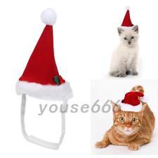 Red Christmas Pet Hats Puppy Cat Dog Santa Caps Xmas Holiday Costume Decor