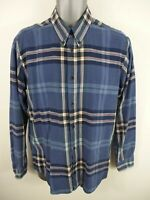 MENS ARMANI JEANS BLUE/WHITE/RED CHECKED BUTTON UP LONG SLEEVED SHIRT M MEDIUM