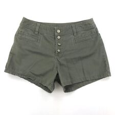 """Old Navy High Waist Shorts Army Green Women's Size 8 Button Fly W29"""" Inseam 3"""""""
