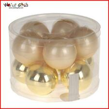 Christmas Tree Decoration Glass Baubles - 10 Pack 60mm - Gold