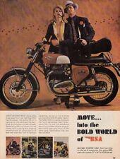 "1968 BSA Spitfire MK IV Motorcycle photo ""Great Getaway Bike"" vintage print ad"