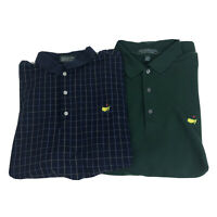 Lot of 2 Mens XL Masters Collection Golf Polo Shirt Short Sleeve Pima Cotton