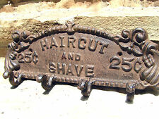Old style Beauty or Barber Shop Salon Sign 4 small hooks