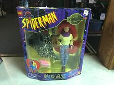 "1995 ToyBiz Marvel  Spiderman Mary Jane 12"" Fashion Doll Figure MIB"