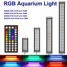 12-24-36-48Inch Aquarium Light Fish Tank Rgb Led Lighting Timer 44 Color Control