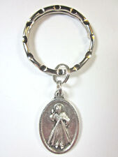 The Divine Mercy of Jesus Medal Italy Key Ring Gift Box Prayer Card