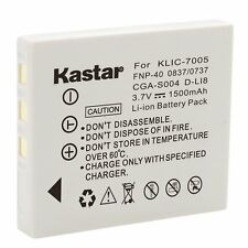 1x Kastar Battery for Samsung SLB-0737 SLB-0837 Sanyo NP-40 Digimax i5 NV7 L80