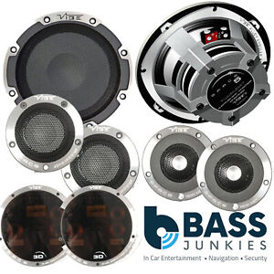 Vibe Space 5 600 Watts a Pair 13cm 3 Way Component Kit Car Door Speakers Kit