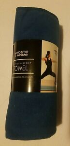 Manduka Welcome Yoga Mat Towel Maldive Blue Sweat Activated Brand New