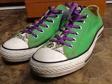 CONVERSE CHUCK TAYLOR ALL STAR WOMEN'S GREEN PEACOCK FEATHER ATHLETIC SHOES 8.5.