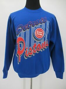 L7249 VTG Team Rated NBA Detroit Pistons Team Sweatshirt Made In USA Size L