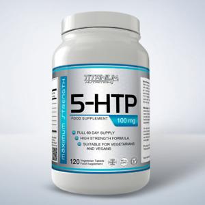 5HTP 100mg Tablets Helps Serotonin Depression Insomnia Stress Anxiety 5-htp