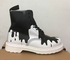 DR. MARTENS  PASCAL BLACK + WHITE PAINT SPLAT SOFTY T   BOOTS SIZE UK 9.5