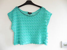 Gorgeous Turquoise Green Tasselled Cropped Top by Tokyo Doll - Size 12 - BNWOT!!