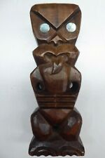 Vintage Maori Tiki Hand Carved Tupara Pacific Island Polynesian